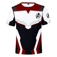 Avengers 4 Endgame T-shirt Advanced Tech Cosplay Short Sleeve Summer Tee Tops