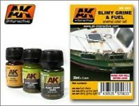 AK00063	AK Interactive Slimy grime & fuel set vehicle weathering/ageing pigments