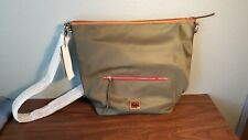 Brand New Dooney & Bourke Olive Nylon Hobo with Accessories and Leather Trim