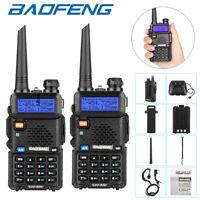 2PCS BAOFENG UV-5R VHF UHF Dual Band Two Way Ham Radio Transceiver Walkie Talkie