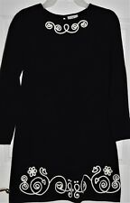 Girls Hanna Andersson Black & White Sweater Dress Size 130 / 8 yrs