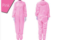 D35 Pink Adult Disposable Antistatic Industrial Protective Suits Coverall A