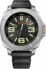 Men's Black Hugo Boss Orange Sao Paulo Watch 1513107 Black Rubber Band