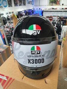 AGV X3000 Black Solid E2205 Motorcycle Motorbike Helmet Paint Fault NEW SALE