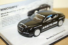 Bentley Continental GT 2007 NERO 1:43 Minichamps Nuovo & Ovp 436139026