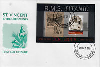 Mayreau Grenadines St Vincent 2012 FDC Titanic Centennial 1v S/S Cover Smith