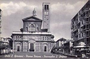 SESTO S. GIOVANNI (MILANO) - PIAZZA PETAZZI - RARA CARTOLINA - ANNI '50