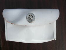 NOS TOOL BAG BIKE SEAT WHITE PATENT VINYL OUT OF OLD SCHWINN STORE
