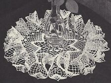 Vintage Crochet PATTERN to make Star Center Ruffled Table Doily Mat Centerpiece