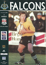 NEWCASTLE FALCONS RUGBY UNION v MOSELEY PROGRAMME 3 JAN 2000