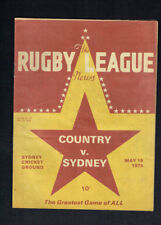 #MM. THE RUGBY LEAGUE NEWS,  MAY  19th 1973,  COUNTRY VS SYDNEY