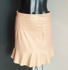 Women's size 10 'BARDOT' Stunning nude coloured faux leather mini skirt - AS NEW