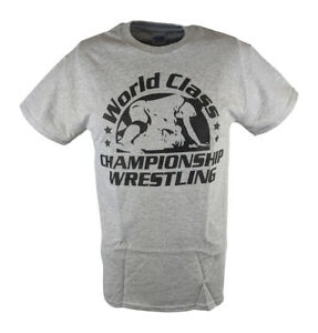 World Class Championship Wrestling WCCW Gray Mens T-shirt