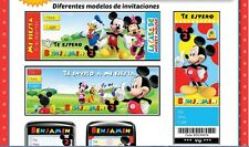 Mickey mouse printable kit for your children's parties