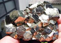 PYRITE PENTADODECAHEDRAL CRYSTALS on MATRIX from PERU........SUPERIOR BRIGHTNESS