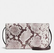 COACH FOLDOVER CLUTCH CROSSBODY IN PYTHON EMBOSSED LEATHER