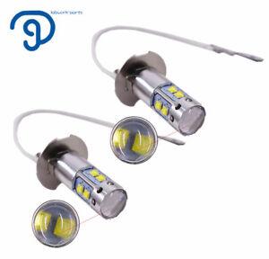 2x H3 6000K White For  50W High Power LED Fog Light Driving Bulb DRL #2 US