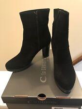 La Canadienne Women's Mirabella Boots. Black Suede. 11M. Waterproof ($485) NEW