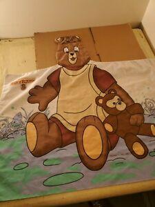 TEDDY RUXPIN Vintage Original 1985 3D Teddy Pillowcase