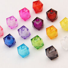 30pcs 10x10mm High Quality Square Acrylic Loose Spacer Beads Mixed color DIY