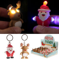2 x  Light and Sound Funky Novelty Christmas Keyring Party Bag Stocking Filler G