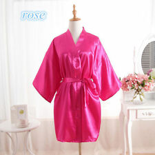 women robe Silk Satin Robes Wedding Bridesmaid Bride Gown kimono Robe HOT*