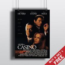 CASINO 1995 MOVIE POSTER Robert De Niro Sharon Stone Film A3 A4 Art Print Decor