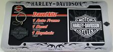 harley davidson motorcycle license plate frame sticker key chain HD decal tag G