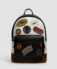 Coach x Marvel Backpack Signature Canvas Patches Leather Black Panther LAST ONE
