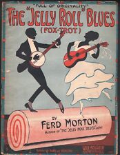 Jelly Roll Blues 1915 Jelly Roll Morton Large Format Sheet Music