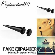 Dilataciones falsas expander fake Dilatacion ear plug 4mm 5mm 6mm Color negro