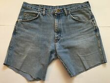 Wrangler Distressed Stone Washed Cut Off Jeans 33