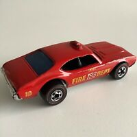 Hot Wheels Redline Fire Chief 442 Enamel Red Flying Colors HK 1969