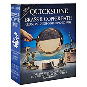 Quickshine Brass and Copper Bath - Metal Cleaner - 4 Sachets - Dipping Solution