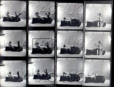 Boudoir Nude Black Stockings HENDRICKSON Negative Photographs Contact Sheet D807