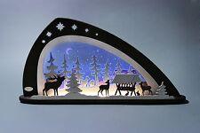motivleuchte Familia ciervos Largo aprox. 66cm NUEVO Arco de luces LED Bosque