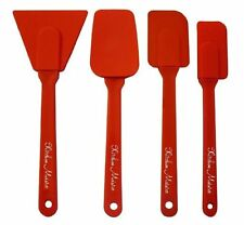 Silicone 4 Piece Utensils Set, Includes; Spoon Spatula, Scraper, Spatula, and