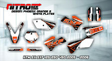 KTM Graphics Kit Decal Decor Design Stickers  SX SXF 125 250 450 525 2005 - 2006