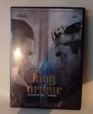 KING ARTHUR, DVD, CASE AND CASE COVER ARTWORK, JUDE LAW, CHARLIE HUNNAM