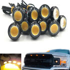 10x Amber 9w Led Front Grille Drl Running Lights Lamp For Ford Raptor 2010-2018