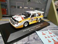 AUDI S1 E2 Quattro Sport Rallye Monte Carlo WM 1986 Röhrl IXO + HB NIGHTV I 1:43