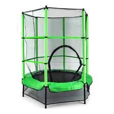 Klarfit Rocketkid Trampolino per Bambini con Rette di Protezione 140cm - Verde