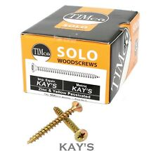 POZI COUNTERSUNK WOODSCREWS PACK OF 200 SOLO WOOD SCREW YELLOW SCREW 3g 4g 5g 6g