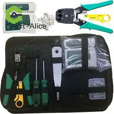 Rj45 Crimpzangen Kit Set Für CAT5 / CAT6 Lan Kabeltester Netzwerk Reparatur B2SA