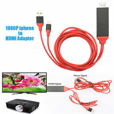 Lightning to HDMI 1080P HDMI Video HDTV Adapter Cable 6.5FT for iPhone 5,6,7,8,X