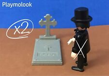 Lot 2 Tombstones Western Headstone Custom Playmobil Figure not Included