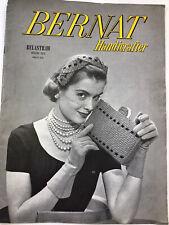 Bernat Handicrafter Belastraw Book 162 1953 Crochet Patterns