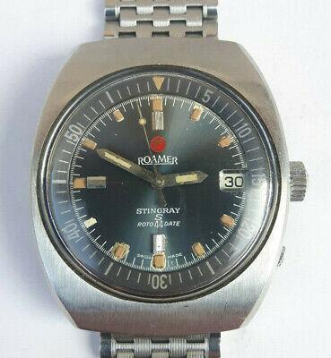 Vintage 60s Diver watch ROAMER STINGRAY S 44 ROTODATE Compressor 471 Automatic
