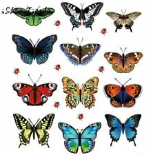 12 Pcs/Lot PVC Butterfly Decals 3D Wall Stickers Home Decor Poster For Window Fr