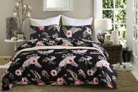 Set Soft Single Double Queen King Size Pillow Case Duvet Quilt Cover Bed Bedding